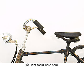 An Iron bicycle model isolated on white background