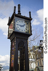 clock tower - a clock tower in vancouver