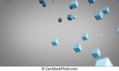 flying blue cubes loop