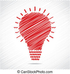 Red sketch bulb design