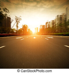 The road of the city - The city's streets and car
