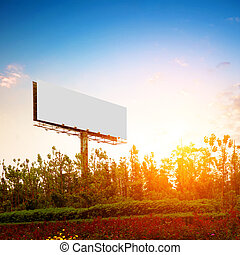 Large-scale outdoor billboards - Evening, the outdoor blank...
