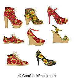 fashion shoes - Illustration of fashion icons, fashion...