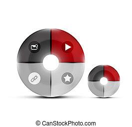Modern circles design template - Modern glossy circles...