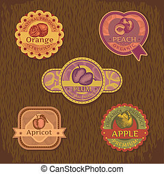 vintage fruit label - abstract vintage style fruit label...