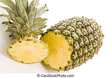 Pineapple - Fresh pineapple on white background.