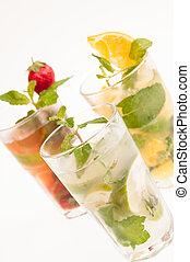 Colourful Mojito Cocktails - Mojito a Cuban cocktail made...