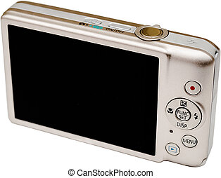digital, cámara, Lcd, pantalla