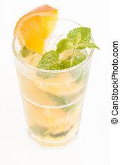 Fresh Orange Mojito cocktail - Mojito a Cuban cocktail made...