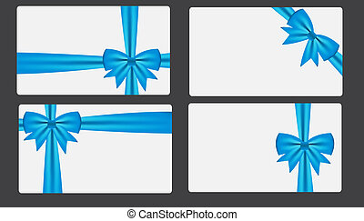 Gift card with bow vector illustration