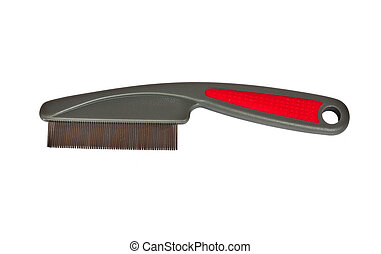 Dog's comb - The comb for brush dog's hair on white...