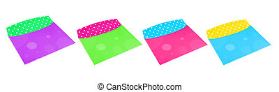 colorful envelope - different empty colorful envelopes on a...
