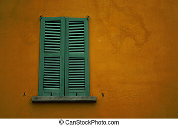 Shutters - Detail view of some shutters on a mediterranean...