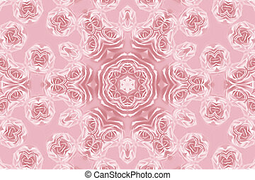 Abstract roses pattern - Pink pattern with natural flowers...