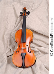 Violin in brown background