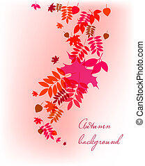 Autumn leaves falling background