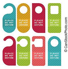 Do not disturb door hanger set
