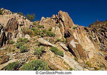 Rock Formation Looking up on Piestewa / Squaw Peak in...