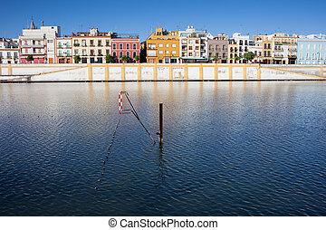 City of Seville Skyline - City of Seville skyline, row...