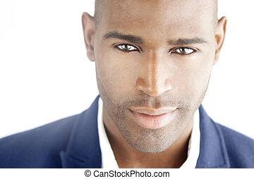 Smart and sexy man - Highly detailed close-up portrait of a...