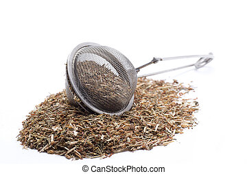 preparing an infusion - natural herb to make a tea, are...