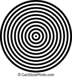 Black and White Circles in a Pattern