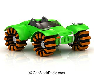 ATV, calesa, verde