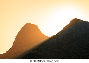 Sunrise over a mountain top