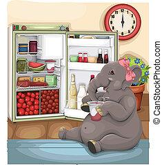 Elephant Glutton vector