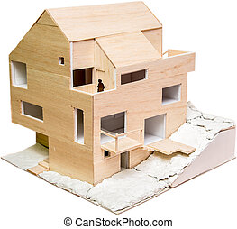 House Model - Perspective View Of A House Model Under...