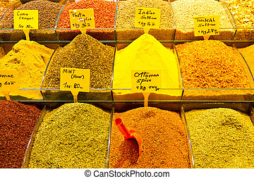 Spices from Spice Bazaar, Istanbul