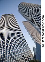 Modern office building - Azrieli Skyscrapers, Tel-Aviv,...