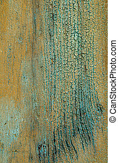 weathered wood with peeling paint
