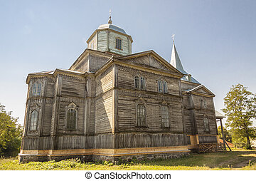 Pobirka - Orthodoxy church, Ukraine, Europe - Old wooden...