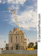 Orthodoxy church under construction - Uman, Ukraine - View...