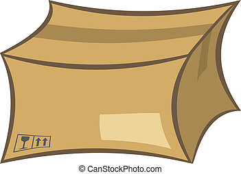 Shipping box - Cardboard shipping box vector illustration