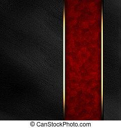 Black background with dark red texture stripe layout
