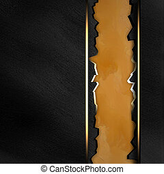 Black background with crack yellow texture stripe layout