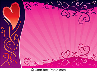 Valentine card - Sweet pink background for valentine post...