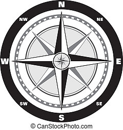 Wind rose compass - Modern wind rose compass for your map