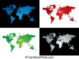 world map variation