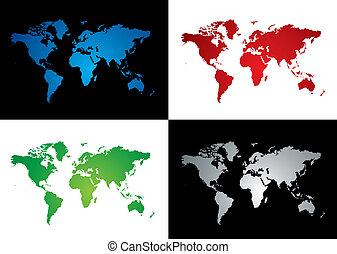 world map variation