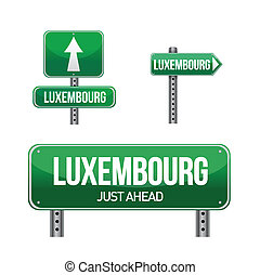 luxembourg city road sign