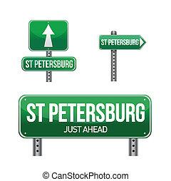 saint petersburg city road sign illustration design over...