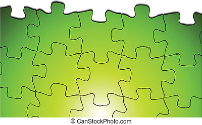Bright puzzle vector background
