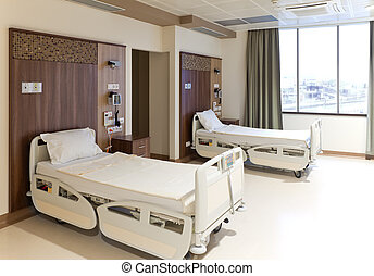 Modern empty hospital room - Modern equipped hospital room...