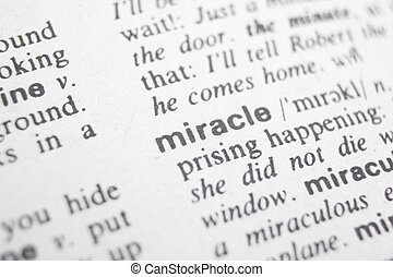 miracle - Word miracle in a dictionary