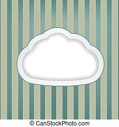 retro background with cloud