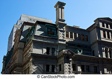 court house - the grey stone of the john adams courthouse...