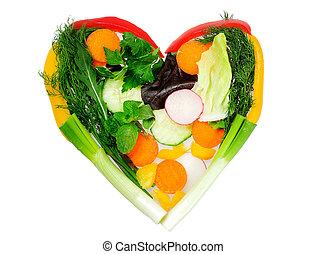 hjärta, grönsaken